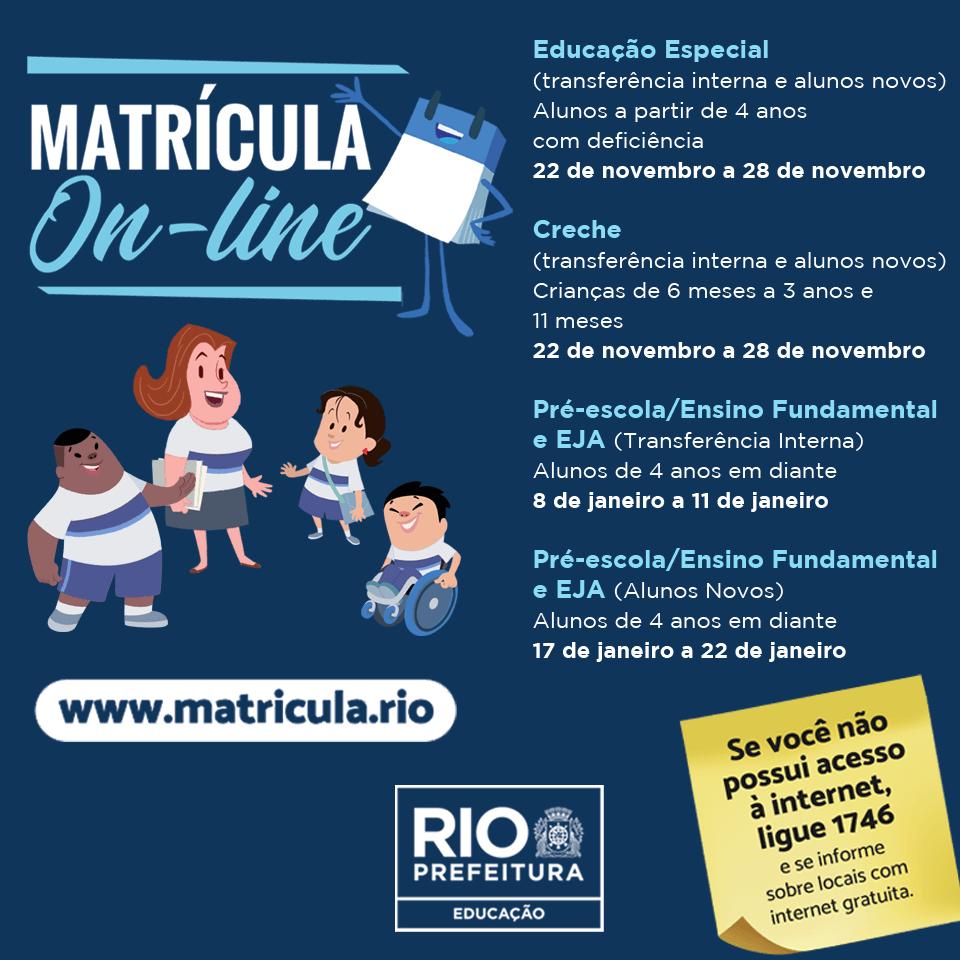 Matrícula Rio 2020 Online