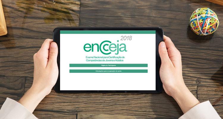 Página do Participante Encceja 2021